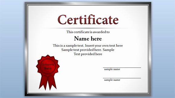 Certificate Of Appreciation Template Powerpoint Beautiful Free Editable Certificate Template for Powerpoint
