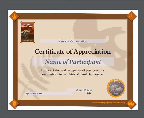 Certificate Of Appreciation Template Powerpoint Fresh Sample Certificate Of Appreciation Temaplate 12