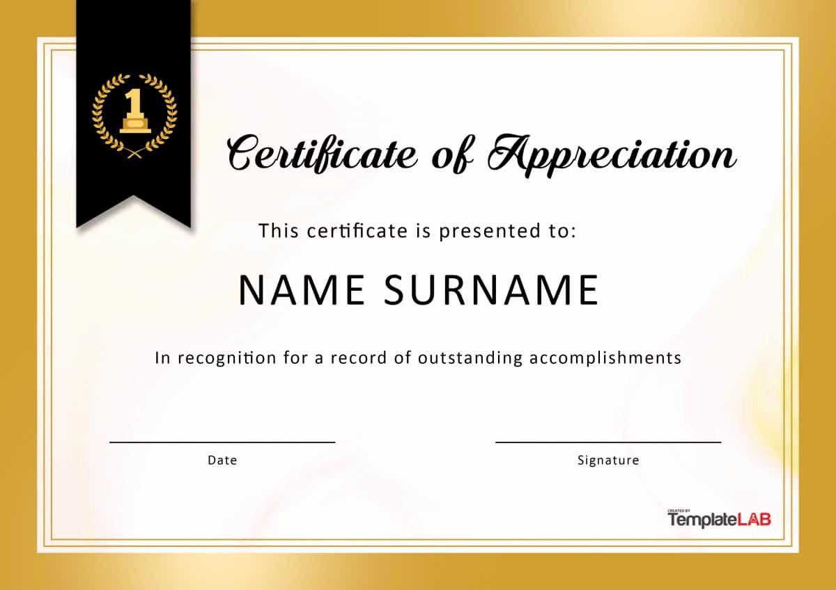 Certificate Of Appreciation Template Powerpoint Lovely 30 Free Certificate Of Appreciation Templates and Letters