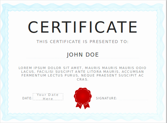 Certificate Of Appreciation Template Powerpoint Lovely Certificate Template Ppt