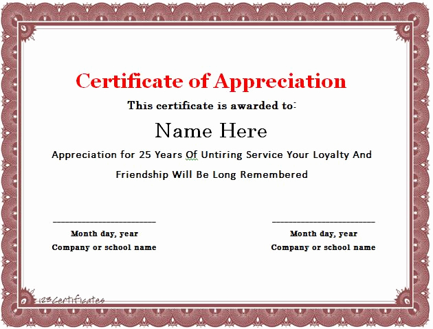 Certificate Of Appreciation Template Powerpoint Luxury 31 Free Certificate Of Appreciation Templates and Letters