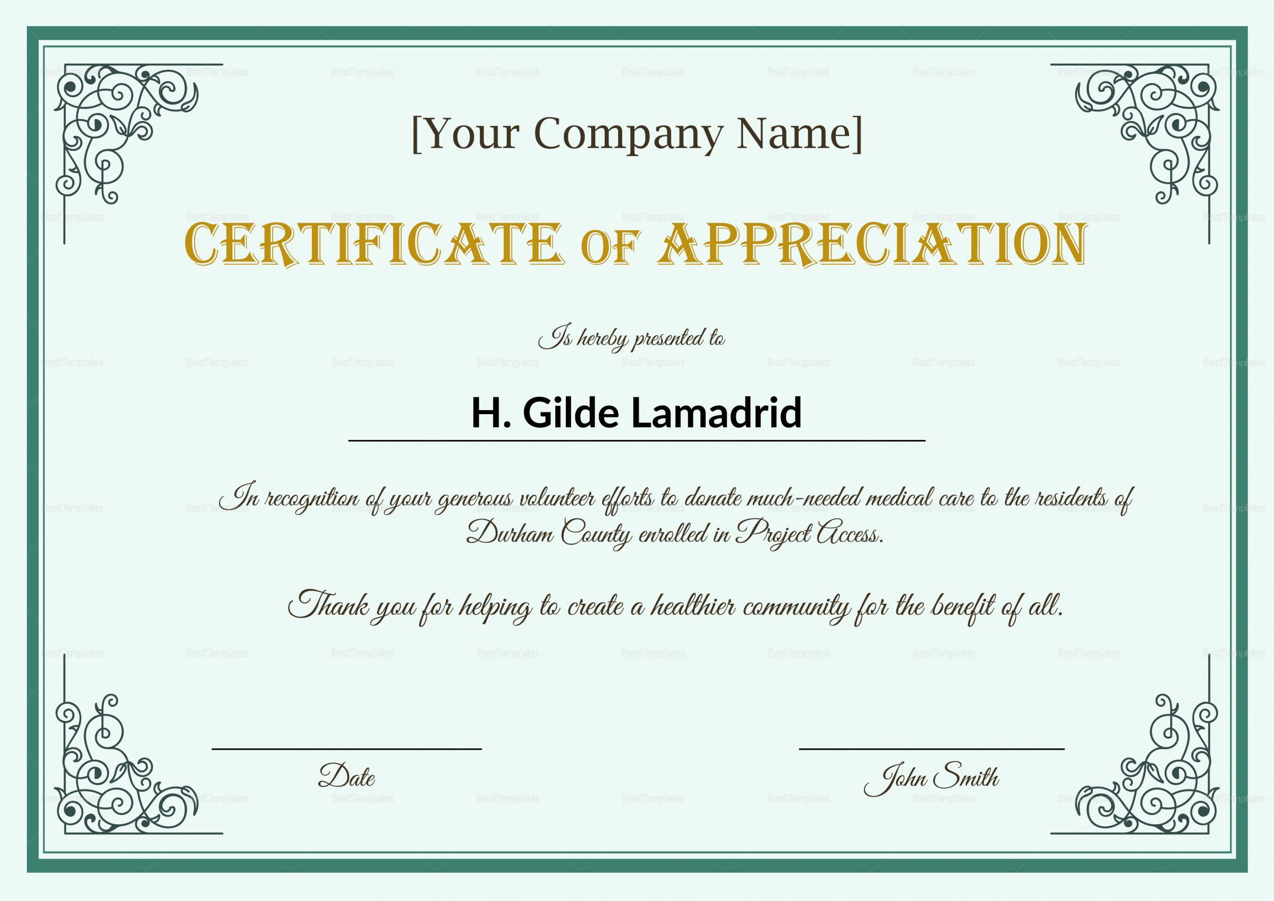 Certificate Of Appreciation Template Powerpoint Luxury Army Certificate Appreciation Template Ppt