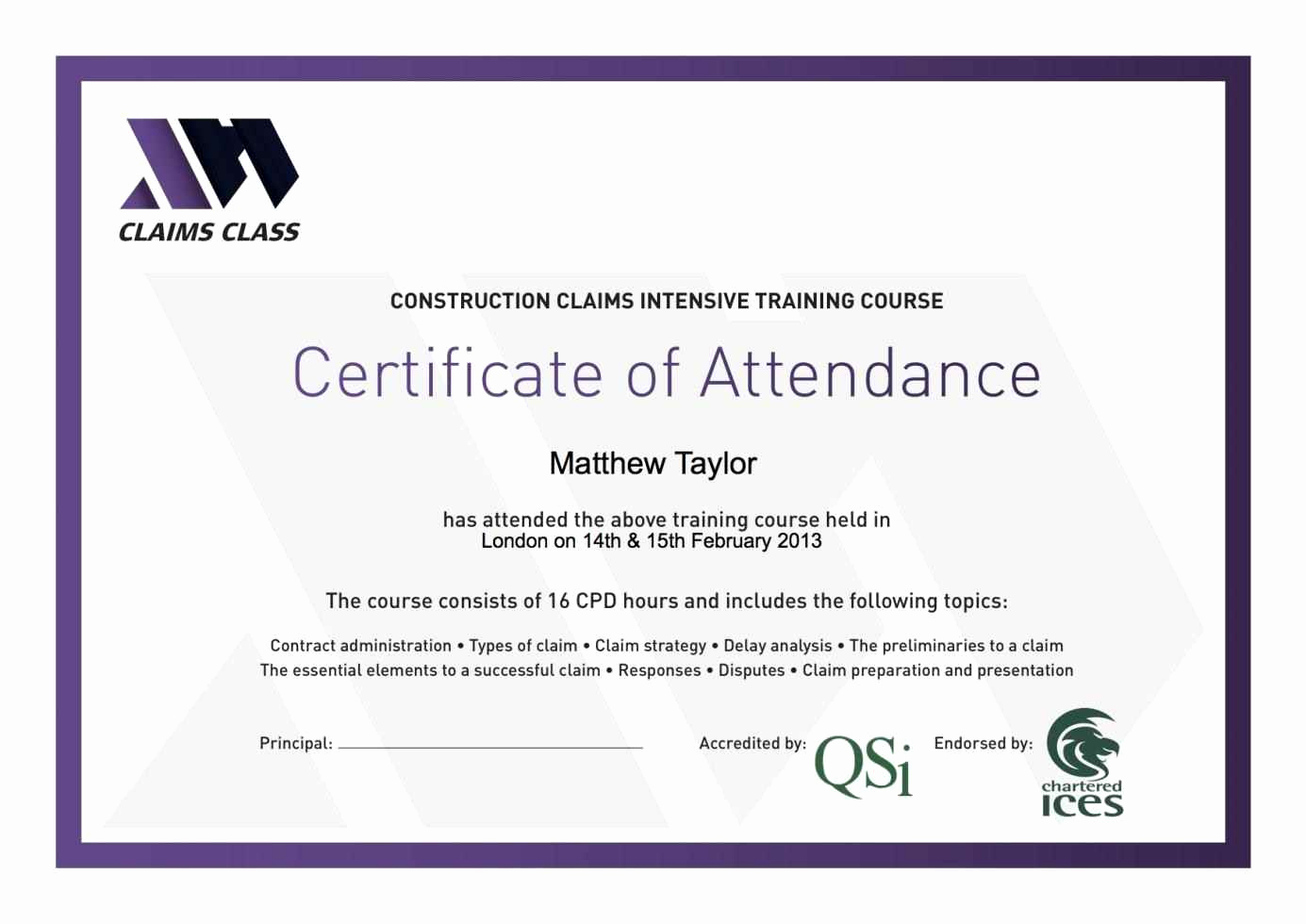 Certificate Of attendance Template Free Awesome Certificate attendance Template Template Update234
