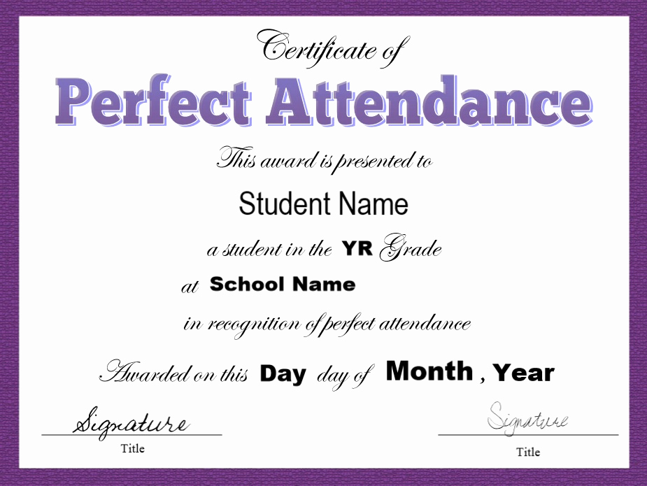 Certificate Of attendance Template Free Best Of 8 Free Sample attendance Certificate Templates Printable