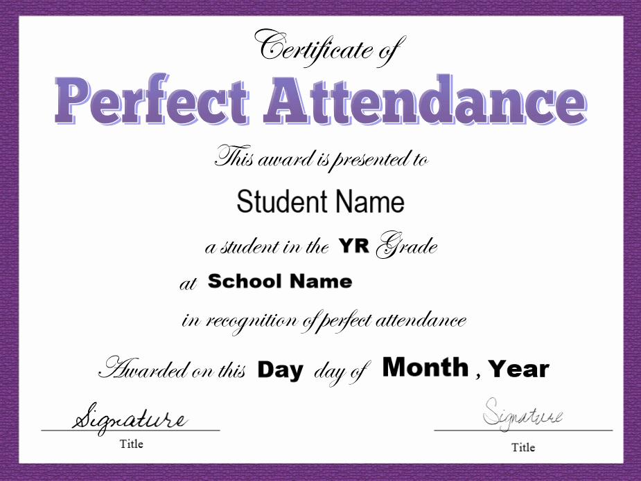 Certificate Of attendance Template Free Best Of 8 Free Sample attendance Certificate Templates Printable