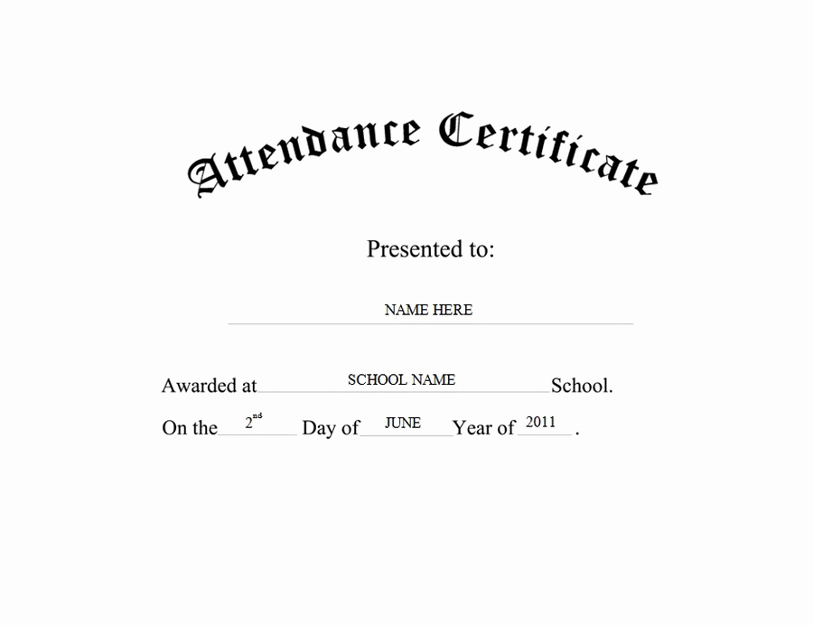 Certificate Of attendance Template Free Best Of attendance Certificate Free Templates Clip Art & Wording