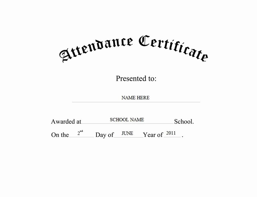 Certificate Of attendance Template Free Best Of attendance Certificate Free Templates Clip Art & Wording