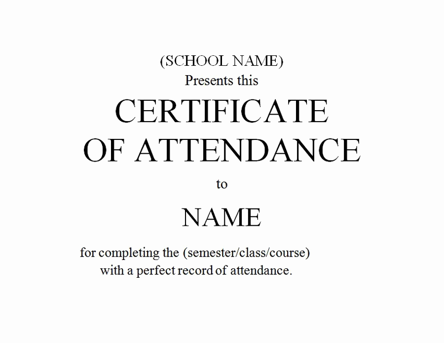 Certificate Of attendance Template Free Fresh Awards Certificates