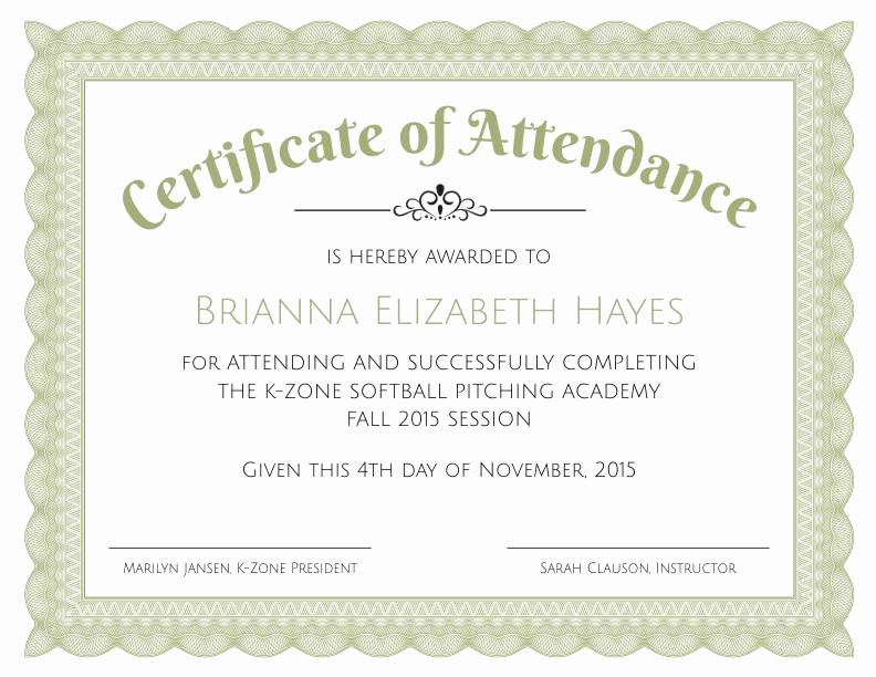 Certificate Of attendance Template Free Unique formal Certificate Of Appreciation Template 2