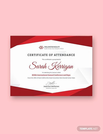Certificate Of attendance Template Free Unique Free Internship Certificate Template Download 380