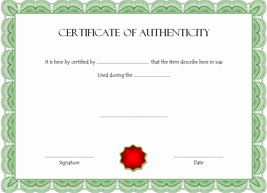 Certificate Of Authenticity Photography Template Beautiful Certificate Of Authenticity Templates Free [10 Limited