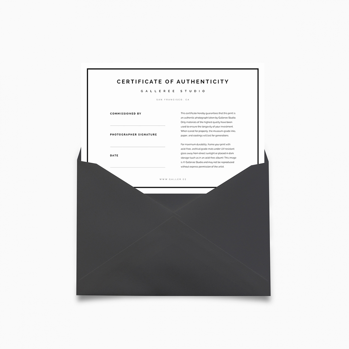 Certificate Of Authenticity Photography Template New Certificates Authenticity