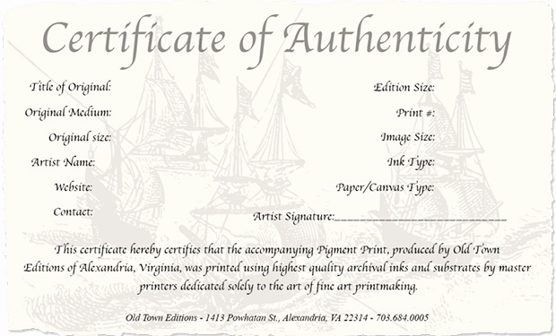 Certificate Of Authenticity Photography Template New How to Create A Certificate Authenticity for Your