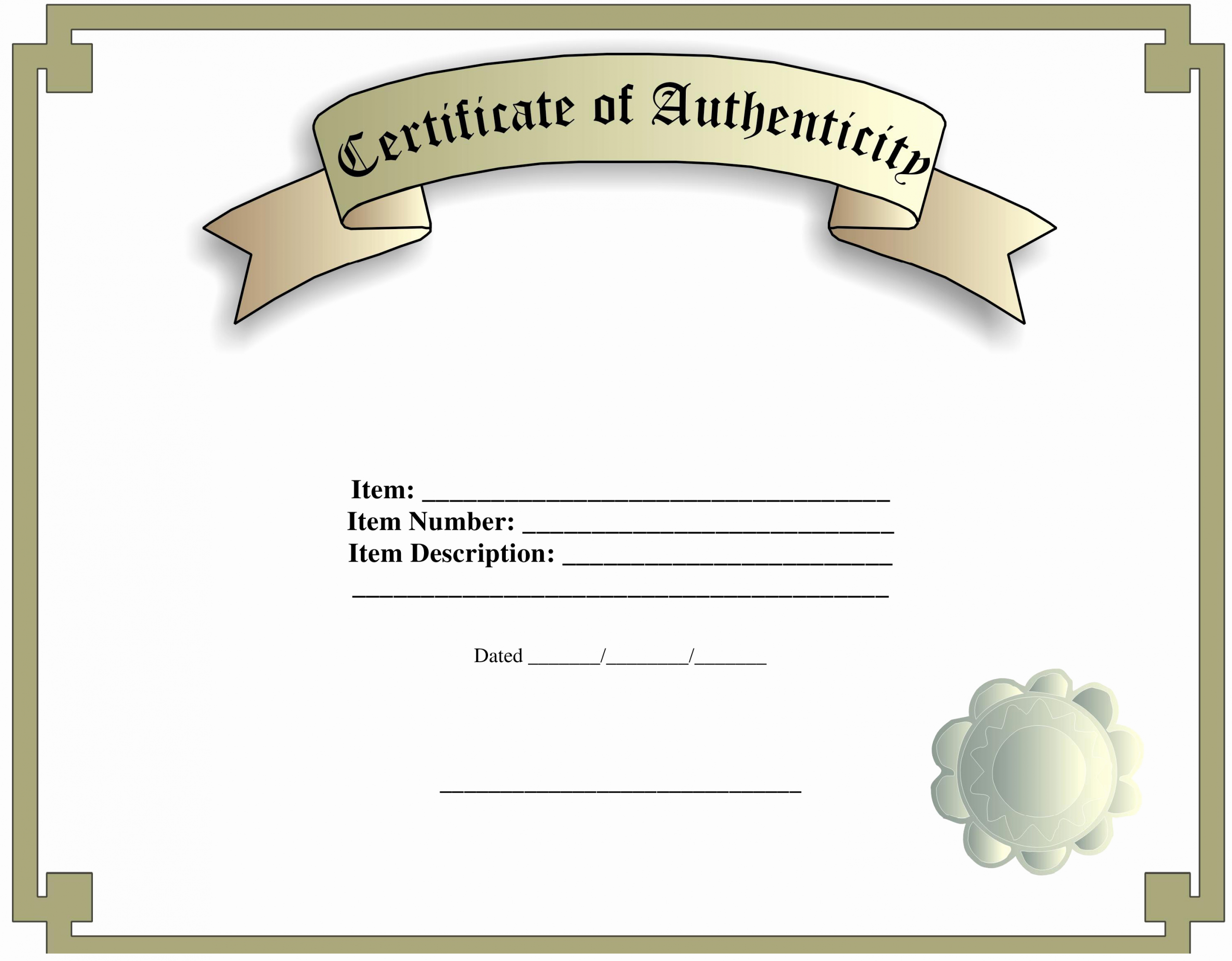 Certificate Of Authenticity Photography Template Unique Certificate Of Authenticity Template