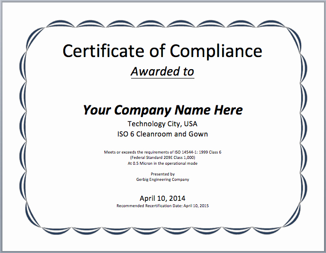 Certificate Of Compliance Template Beautiful Printable Certificates Archives Microsoft Word Templates