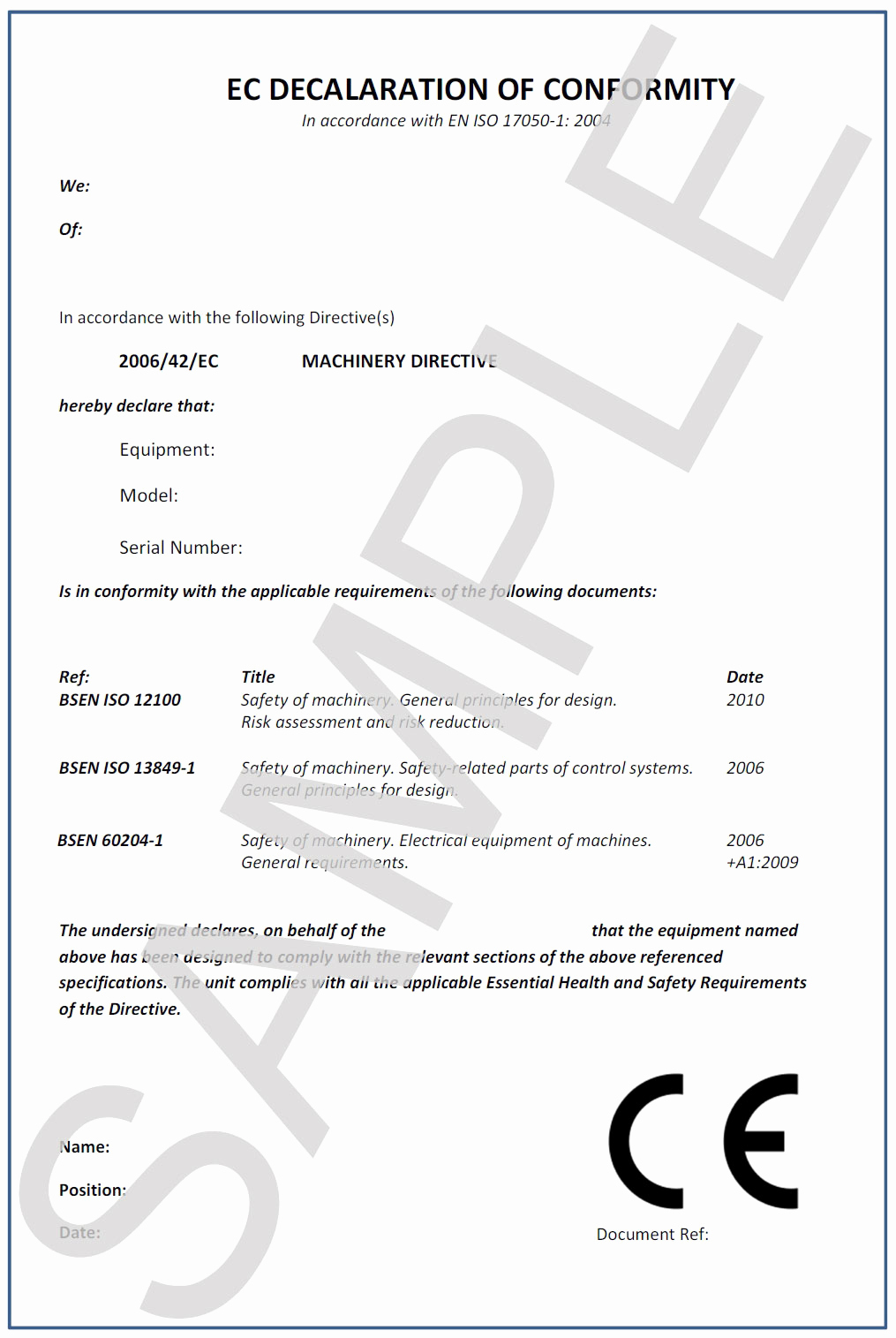 Certificate Of Compliance Template Best Of Ce Pliance iss Safety