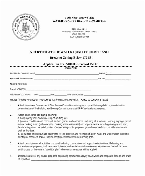 Certificate Of Compliance Template Elegant Free 42 Certificate forms In Pdf Ms Word