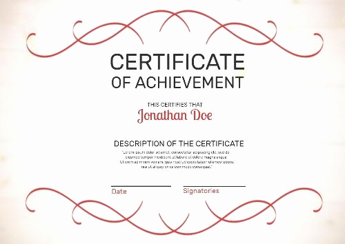 Certificate Of Life Template Beautiful Make Your Own Certificate Achievement In Seconds