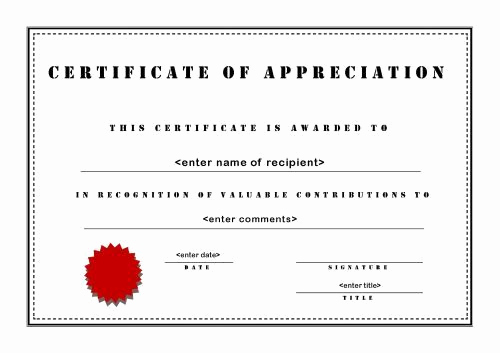 Certificate Of Life Template Best Of Certificates Of Appreciation 003 A4 Landscape Stencil
