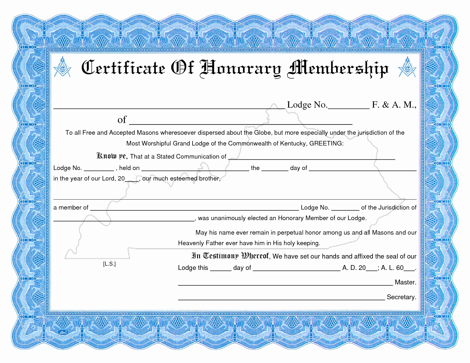 Certificate Of Life Template Best Of Honorary Life Membership Certificate