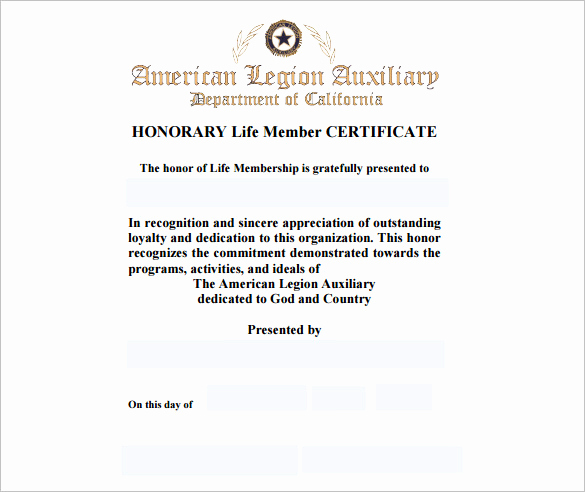 Certificate Of Life Template Lovely 10 Membership Certificate Templates