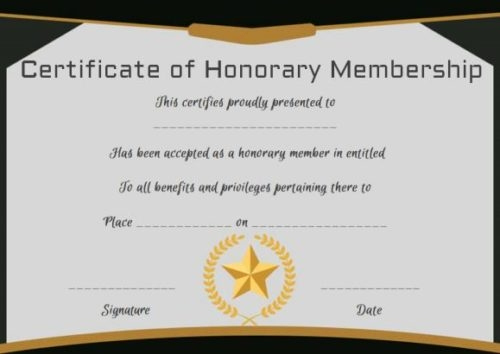 Certificate Of Life Template Lovely 14 Honorary Life Certificate Templates Pdf Docx