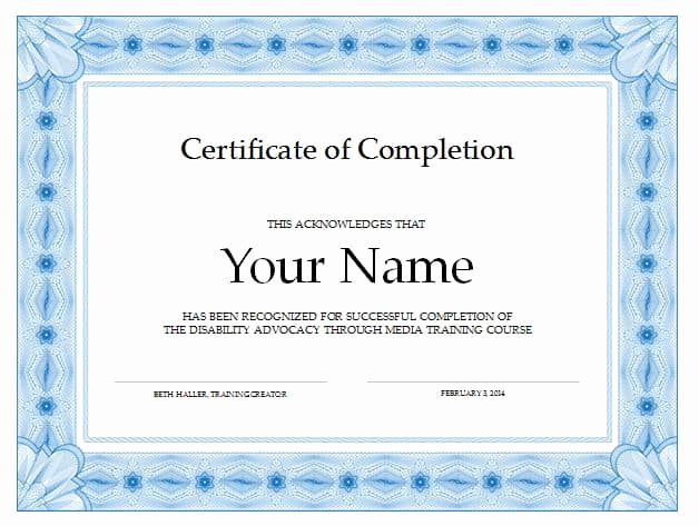 Certificates Of Completion Template Best Of 13 Certificate Of Pletion Templates Excel Pdf formats