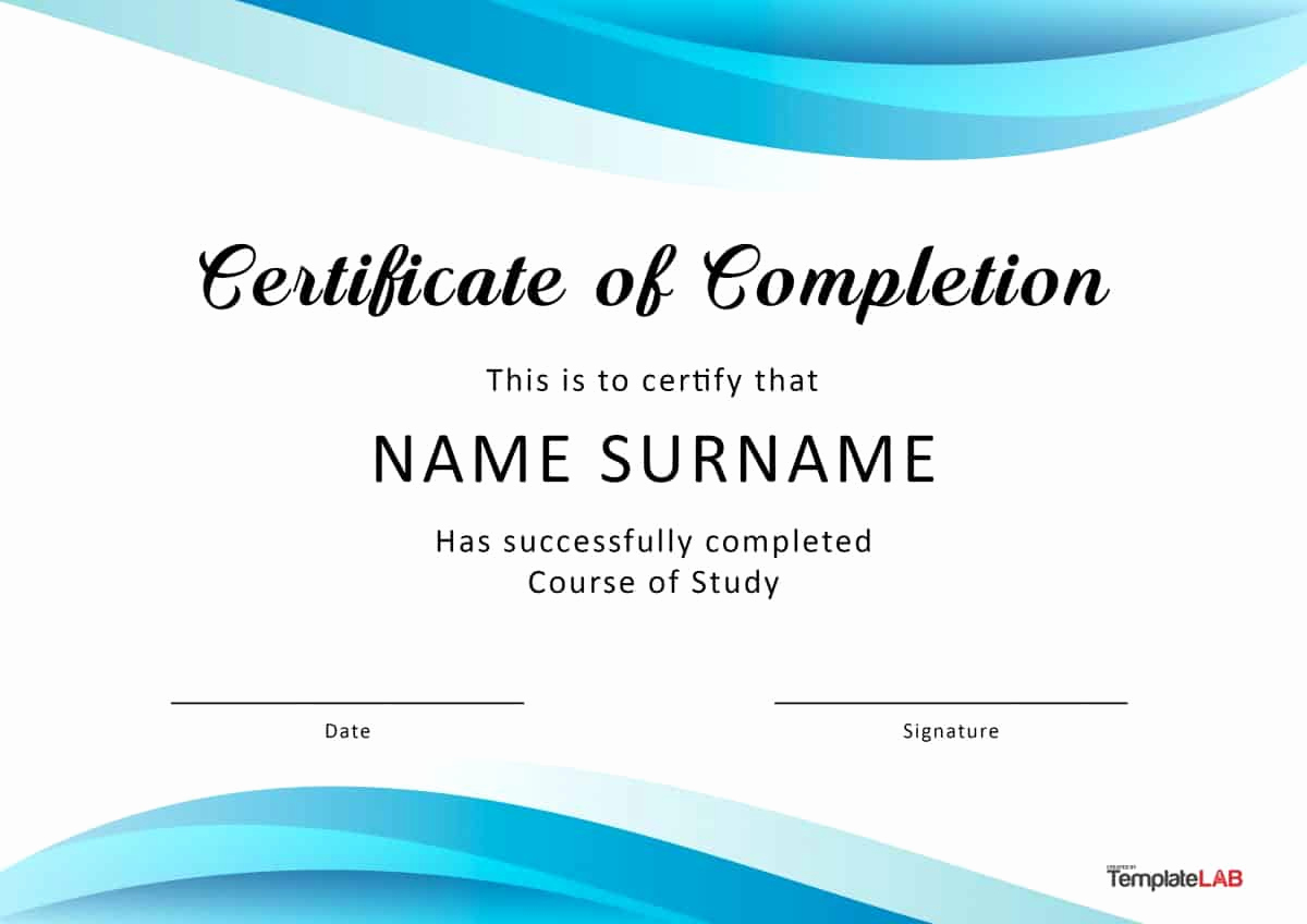 Certificates Of Completion Template Elegant 40 Fantastic Certificate Of Pletion Templates [word