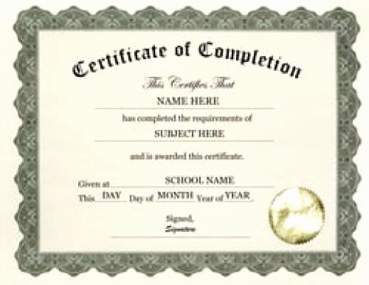 Certificates Of Completion Template Lovely 7 Free Certificate Of Pletion Templated Excel Pdf formats