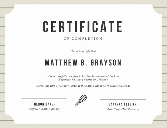Certificates Of Completion Template Lovely Customize 265 Pletion Certificate Templates Online Canva