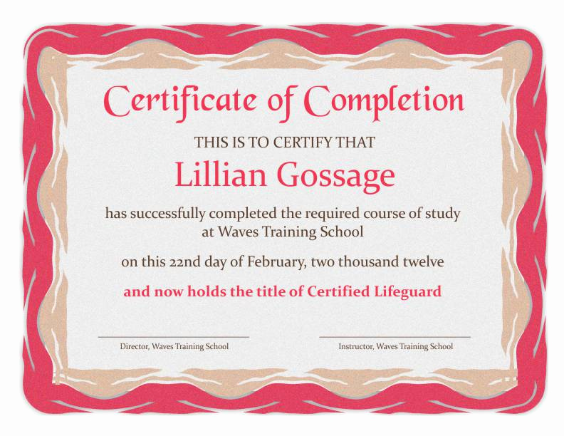 Certificates Of Completion Template Unique Certificate Of Pletion Templates