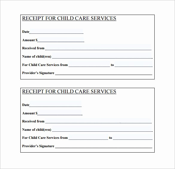 Child Care Invoice Template Awesome 21 Daycare Receipt Templates Pdf Doc
