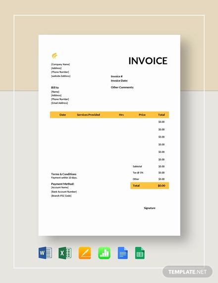 Child Care Invoice Template Awesome Free 7 Daycare Invoice Examples & Samples In Google Docs