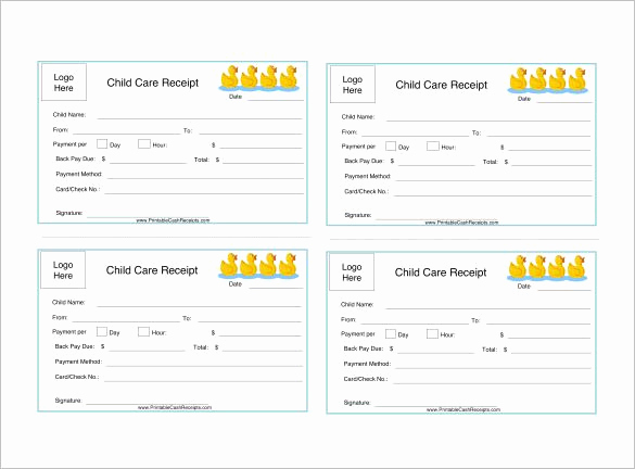 Child Care Invoice Template Beautiful Daycare Receipt Template – 12 Free Word Excel Pdf