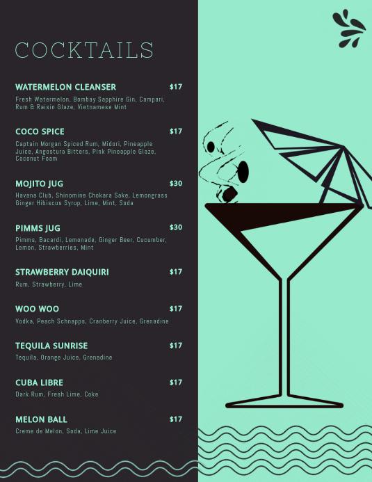 Cocktail Menu Template Free Luxury Elegant Cocktail Menu Templates