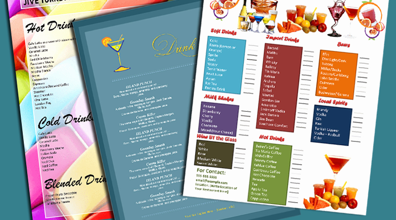 Cocktail Menu Template Free Unique 5 attractive Drink Menu Templates for Your Bar Business
