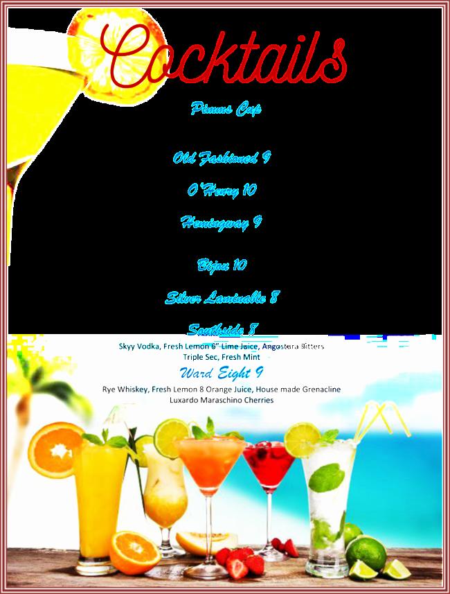 Cocktail Menu Template Free Unique Drink Menu Template 5 Best Drink Menu formats
