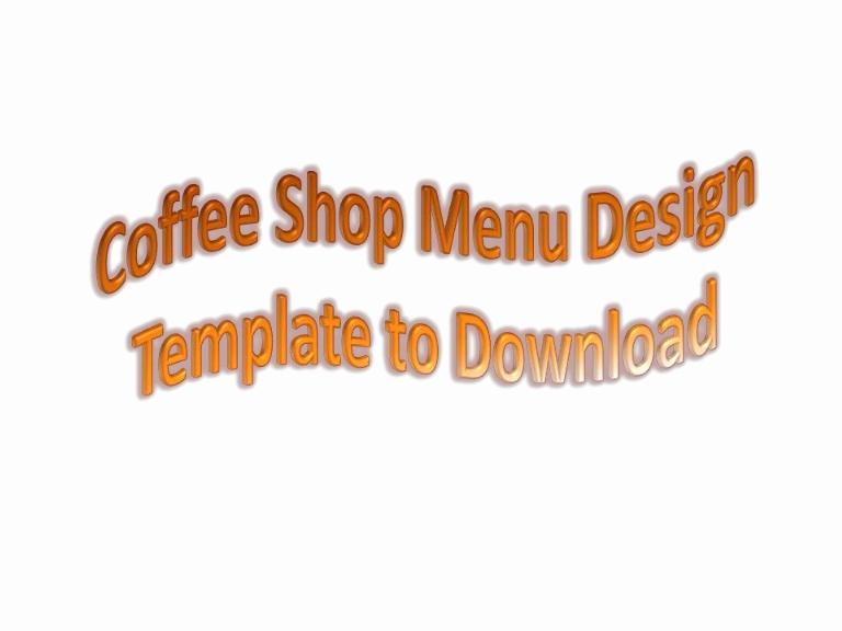 Coffee Shop Menu Template Free Awesome Free Coffee Shop Menu List Templates to Download