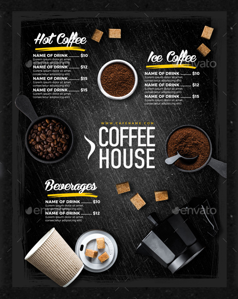 Coffee Shop Menu Template Free Inspirational 15 Coffee Shop Menu Designs & Templates Psd Ai