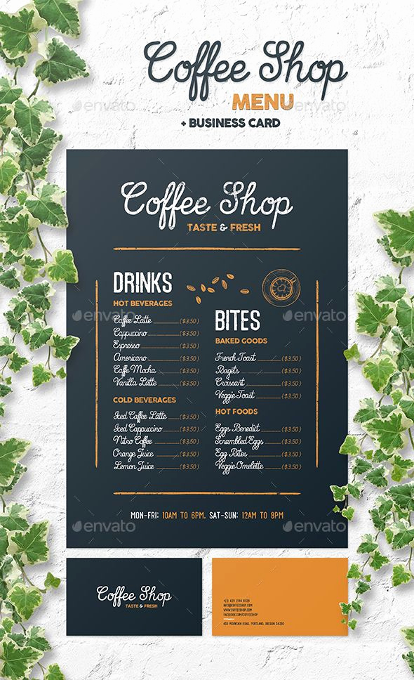 Coffee Shop Menu Template Free Lovely Coffee Shop Menu Template Psd • Customizable and Editable