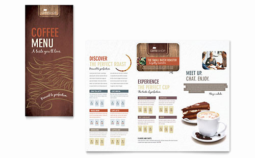 Coffee Shop Menu Template Free Lovely Restaurant Menu Templates Microsoft Word & Publisher