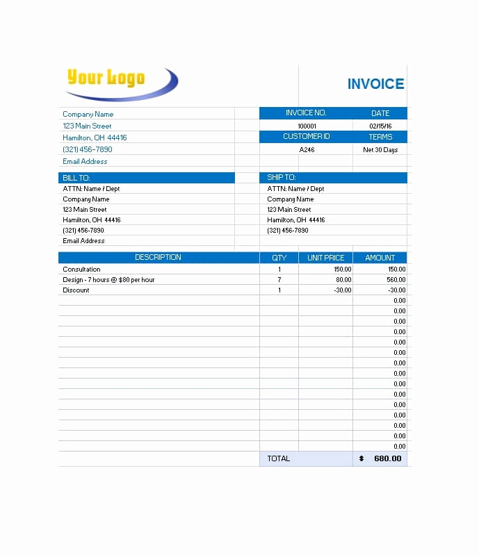 Commercial Invoice Template Word Awesome 44 Blank Mercial Invoice Templates [pdf Word