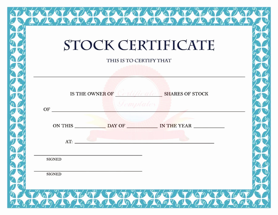 Common Stock Certificate Template Elegant 40 Free Stock Certificate Templates Word Pdf Templatelab
