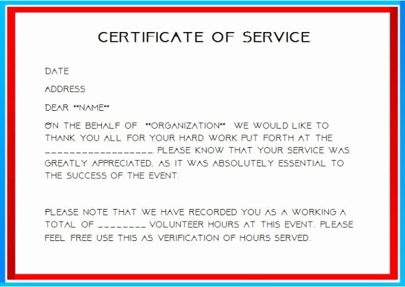 Community Service Hours Certificate Template Elegant 12 Service Certificate Templates