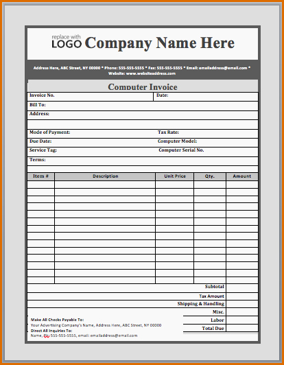 Computer Repair Invoice Template Beautiful 12 Invoice for Services Template