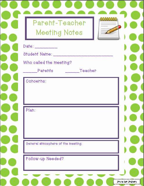 Conference Notes Template for Teachers Best Of Fifth Grade Freebies Successful Parent Teacher Meetings