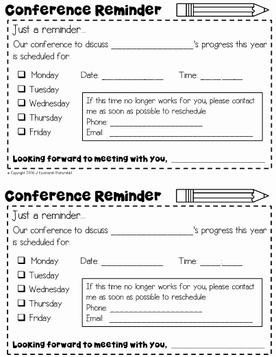 Conference Notes Template for Teachers Lovely This Folder Contains A Collection Of Classroom Management