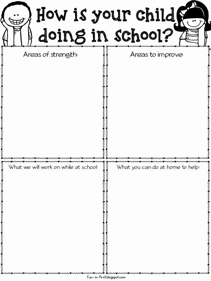 Conference Notes Template for Teachers Luxury Parent Teacher Conference Time and Must Have Freebies