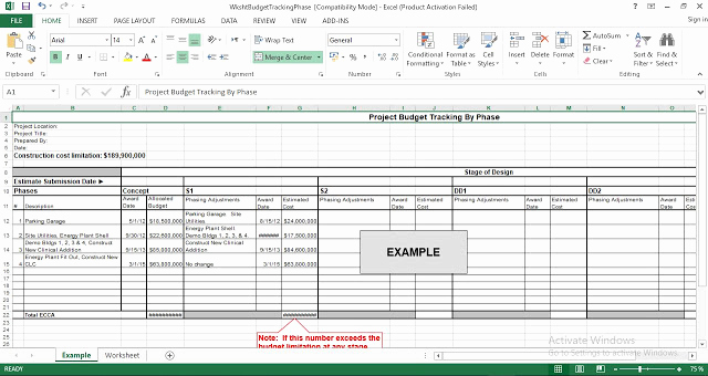 Construction Budget Template Excel Awesome Construction Project Bud Tracking by Phase