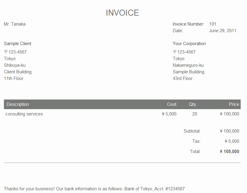 Consultant Invoice Template Excel Best Of Sample Invoice for Consulting Services